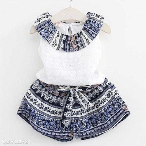 Bowknot Decorated Tribal Prints Set - yoyosfashion