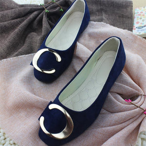 Plain  Flat  Velvet  Round Toe  Casual Flat & Loafers - yoyosfashion