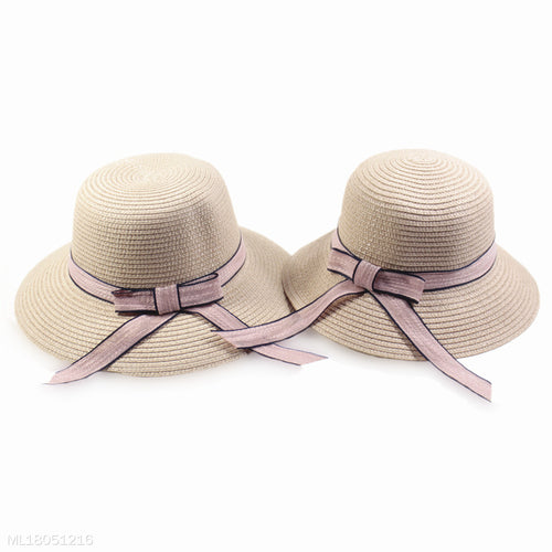 Mom Girl Bowknot Decorated Matching Caps - yoyosfashion