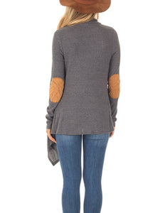 Plain  Long Sleeve Cardigans - yoyosfashion