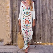 Load image into Gallery viewer, V-Neck Bohemian Printed Dress - yoyosfashion