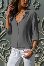 Load image into Gallery viewer, Turn Down Collar  Single Breasted  Plain  Blouses - yoyosfashion