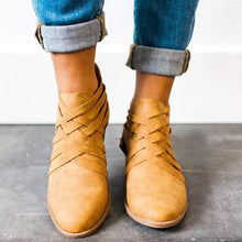 Load image into Gallery viewer, Plain  Chunky  Mid Heeled  Round Toe  Outdoor Ankle Boots - yoyosfashion
