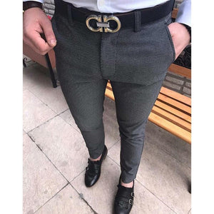 Fashion Basic Slim Suit Pants 4 Colors - yoyosfashion