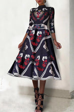 Load image into Gallery viewer, Fashion Elegant Ethnic Style Floral Printed Maxi Dress - yoyosfashion