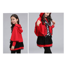 Load image into Gallery viewer, Fashion Hallowmas Nifty Lovely Color Block Bowknot Cape Long Sleeve Kid Dress - yoyosfashion