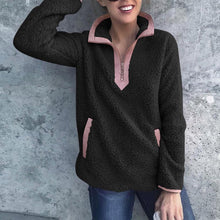 Load image into Gallery viewer, Turtle Neck Zipper Long Sleeve Pocket Casual Sweatershirts - yoyosfashion