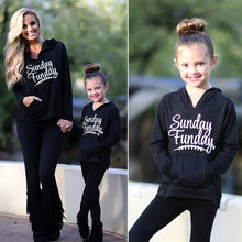 Load image into Gallery viewer, Mom Girl Black Letter Printed Hoodie - yoyosfashion