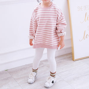 Fashion Round Collar Stripe Shirt Family Suit - yoyosfashion