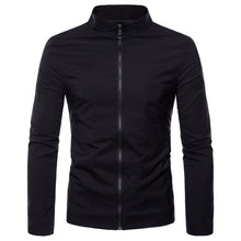 Load image into Gallery viewer, Fashion Lapel Collar Plain Zipper Jacket - yoyosfashion