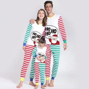 Christmas Round Collar Shirt Stripe Pants Family Suit - yoyosfashion