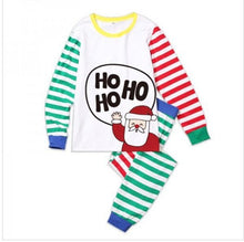 Load image into Gallery viewer, Christmas Round Collar Shirt Stripe Pants Family Suit - yoyosfashion
