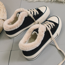 Load image into Gallery viewer, Women Fur Lace-Up Warm Canvas Shoes & Casuals - yoyosfashion