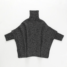 Load image into Gallery viewer, Mon Girl Fashion High Collar Plain Bat Wing Sleeve Knit Shirt - yoyosfashion