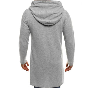 Gentle Fashion Double-Breasted Slim Plain Long Sleeve Men Coat Outerwear - yoyosfashion