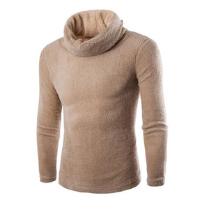 Plain Solid High Choker Warm Sweater - yoyosfashion