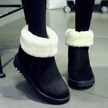 Load image into Gallery viewer, Plain  Flat  Velvet  Round Toe  Casual Outdoor  Short Flat Boots - yoyosfashion