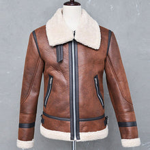 Load image into Gallery viewer, Fashion Trend Long Sleeve Warm Leather Jacket Outerwear - yoyosfashion