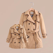 Load image into Gallery viewer, Mom Girl Lapel Collar Plain  Packet Windbreaker Coat - yoyosfashion