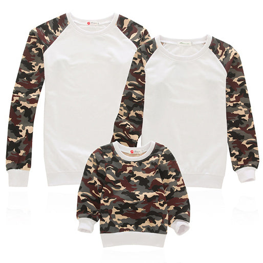 Family Fashion Casual Slim Camouflage Long Sleeve Top Matching Outfit - yoyosfashion