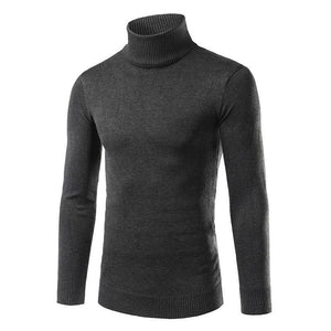 Mens Solid Plain Choker Sweater - yoyosfashion