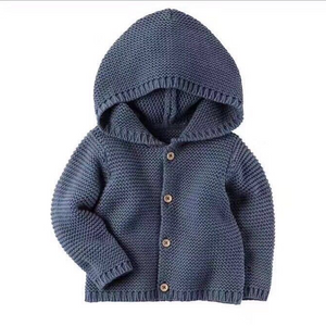 Fashion Toddler Casual Solid Color Long Sleeve Kids Knitting Outerwear - yoyosfashion