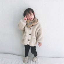 Load image into Gallery viewer, Mom Girl Plain Button Packets Floss Padded Coat - yoyosfashion