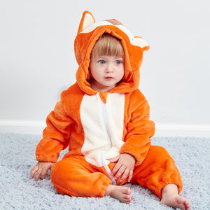 Lovely Fox Model Winter Flannel Loose Jumpsuit - yoyosfashion