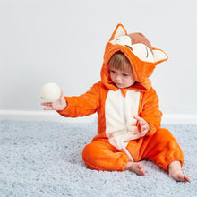 Load image into Gallery viewer, Lovely Fox Model Winter Flannel Loose Jumpsuit - yoyosfashion