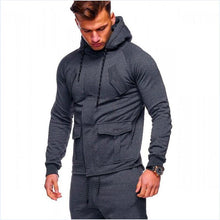 Load image into Gallery viewer, Fashion Sport Casual Hooded Cardigan Coat With Pockets - yoyosfashion