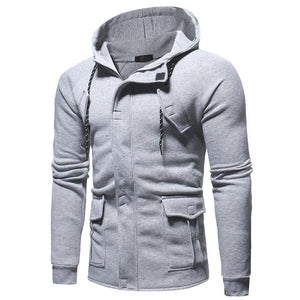 Fashion Sport Casual Hooded Cardigan Coat With Pockets - yoyosfashion