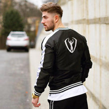 Load image into Gallery viewer, Casual Sport Stripe Color Block Zipper Baseball Coat - yoyosfashion