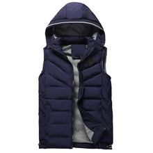 Load image into Gallery viewer, Casual Fashion Thicken Warm Plain Hooded Waistcoat - yoyosfashion