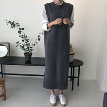 Load image into Gallery viewer, Plain Casual Long Knit Sweater Vest - yoyosfashion