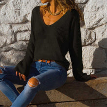 Load image into Gallery viewer, Sexy V Neck With Loose Long Sleeves Sweater - yoyosfashion