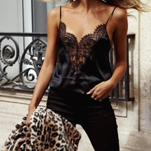Load image into Gallery viewer, Casual Sexy Lace V   Neck Sling Vest Blouse - yoyosfashion