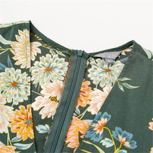 Load image into Gallery viewer, V Collar Floral Printed Vacation Dress - yoyosfashion