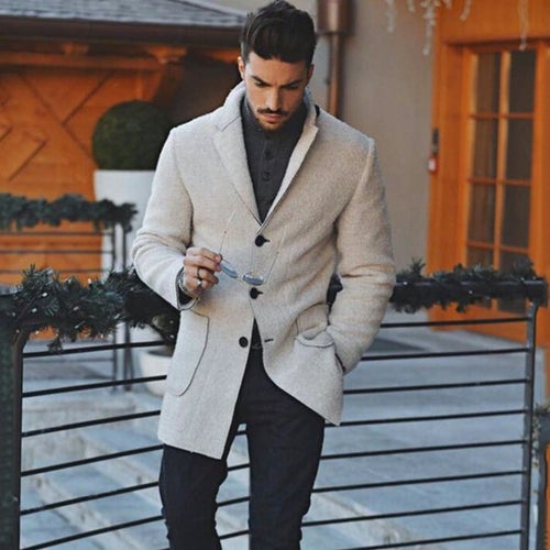 Fashion Mens Warm Outerwear Coat - yoyosfashion