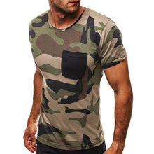 Load image into Gallery viewer, Men's Camouflage Short Sleeve T-Shirt - yoyosfashion