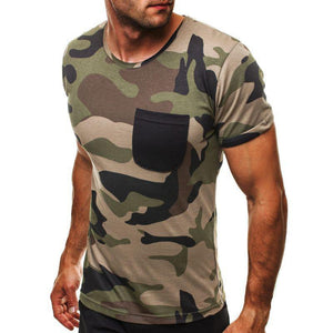 Men's Camouflage Short Sleeve T-Shirt - yoyosfashion