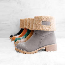 Load image into Gallery viewer, Women Warm Square Heels Multicolor Snow Boots - yoyosfashion