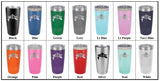 Stainless Steel 20oz Colored Tumbler<br>Dolphin Logo