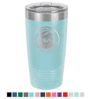 Stainless Steel 20oz Colored Tumbler<br>Official Logo
