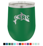 Stainless Steel 12oz Stemless Wine Glass<br>Dolphin Logo