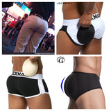 Mens Underwear Briefs pad Front + Back Magic buttocks Double Removable