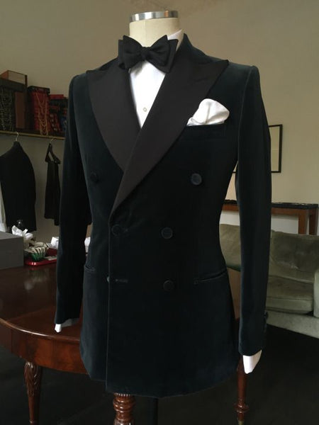 Black Velvet Lace Applique Men Suit Slim Fit Tuxedo 2 Piece Suits Groom Prom Blazer Masculino Jacket+Pant