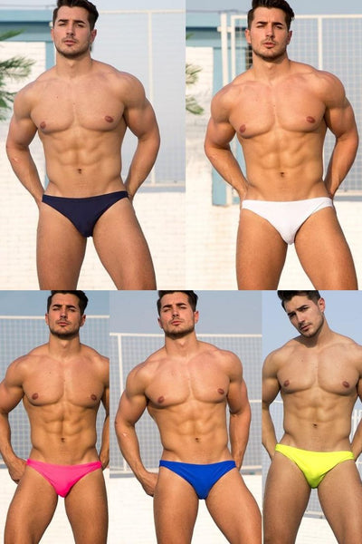 Men's sexy bikini bathing suit swimsuit hawaiian briefs wear pool shorts maillot de bain low waist mesh