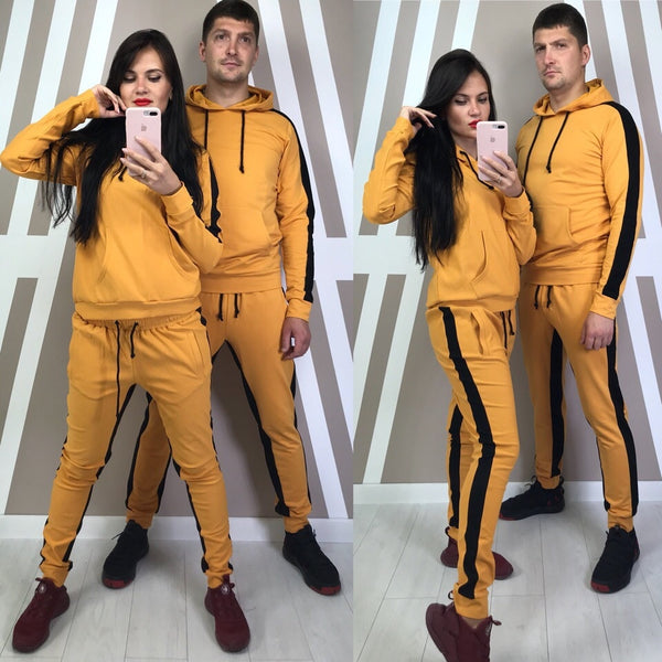 Men's and Women Tracksuit Hoodies Tops Sweatpants 2 Piece Suit Sports Plus Size Sportswear Suit Casual Couple Suits