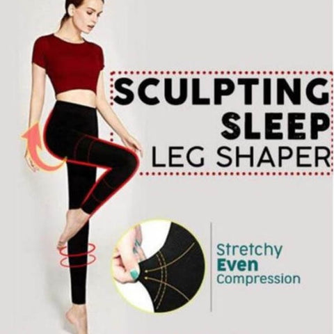Women Sculpting Sleep Leg Shaper Legging Body Shaper Slimming Pants QL Sale