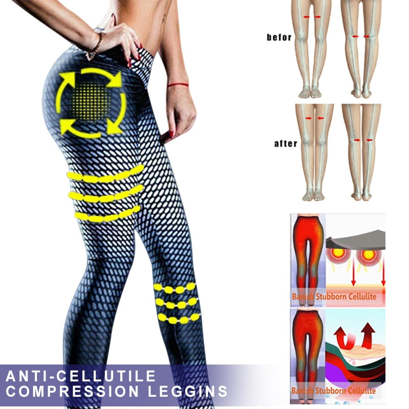 New Hot Women Anti-Cellulite Compression Slim Leggings Gym Running Sport Pants